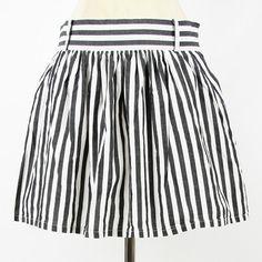 FOREVER 21 urban indie B STRIPED print FULL A-LINE cotton mini dress skirt L $9.99