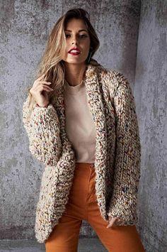 Women's Fashion Tankini Online Shopping – Chic Me Long Sweaters, Sweaters For Women, Knit Cardigan Pattern, Knit Jacket, Beautiful Crochet, Pulls, Knitted Hats, Clothes For Women, Womens Fashion
