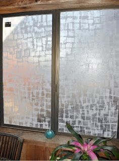 Fake Frosted glass, removable. Nice for bathrooms, loft room windows
