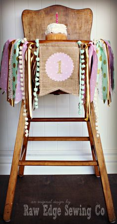 MINT PINK GOLD Lace and Burlap Birthday Age High chair Highchair Birthday Banner/Party/Photo Prop/Bunting/Backdrop/Chair Banner/Wonderland by RawEdgeSewingCo on Etsy https://www.etsy.com/listing/227844617/mint-pink-gold-lace-and-burlap-birthday