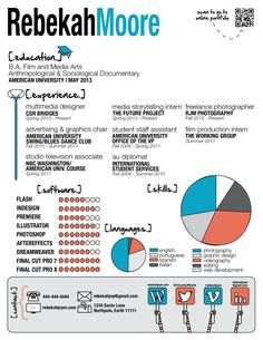 my infographic resume not going to use it but its fun