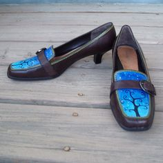 My Blue Heaven painted shoes W8.5