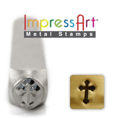 ROUNDED CRoSS METaL STAMP 6mm 1/4 Steel Punch by NaftaliSupply, $8.00