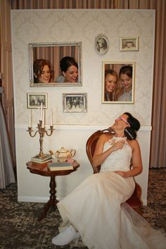 Vintage Photo Booth Wall The Rustic Wedding Company