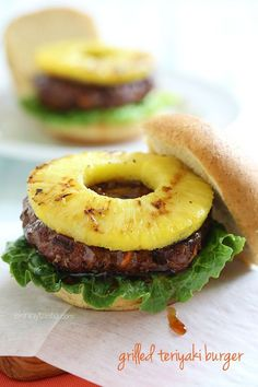 This Grilled Hawaiian Teriyaki Burger is a fun twist on a classic, and it's figure friendly!