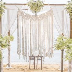 Bohemian Macrame Woven Wall Hanging Tapestry Home Handmade Knitting Door Window Curtain Home Decor Wedding Backdrop - Walmart.com - Walmart.com