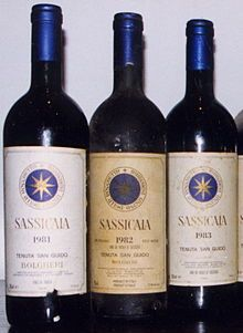 sassicaia wine   Early 80s vintages of Sassicaia