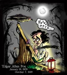 Cartoon Edgar Allen Poe-Raven Nevermore  By Bryant ArnoldPublished: January 19, 2012
