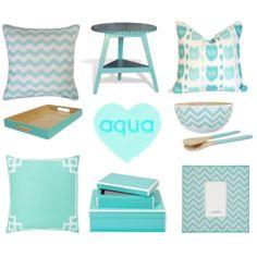 """""""Aqua Homewares"""" by Coastal Style Blog"""