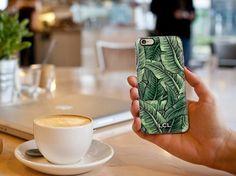 Custom Palm Leaf iPhone 4 5 6 / Samsung Galaxy S4, S5, S6 by LauraCLeBlanc