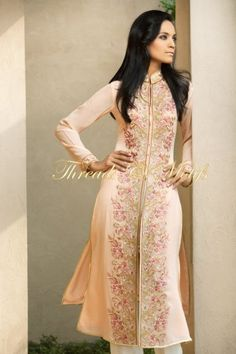 Simple. Pastel. Embroidery. Pakistani. Shalwar kameez. Dress. Pink. Peach. Indian.