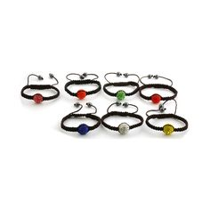 """Liquidation Channel: Red, Orange, Pink, White, Yellow, Blue and Green Austrian Crystal """"Friendship Bracelet for Everyday"""""""