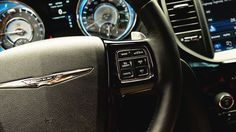The 2014 Chrysler 300 comes standard with steering wheel-mounted audio controls.