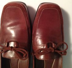 Chocolate Brown Leather Shoes Loafer Slip by TheFlyingBlueMonkey, $24.95