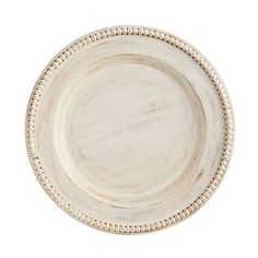 Our antique-style, whitewashed charger is classical perfection for your table. Handcrafted of mango wood to ideal proportions, it's tastefully ornamented and finished to a turn. Wooden Charger Plates, Wood Plate Chargers, Wooden Chargers, Bleached Wood, Rooms For Rent, Whitewash Wood, Wooden Beads, Decorative Accessories, Table Decorations
