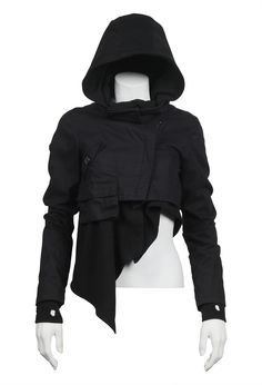 "SHOP BY LOOK WOMEN :: OUTERWEAR :: ADLER JACKET BLACK - NICHOLAS K ""The Perfect Assassins Creed Hoodie"""