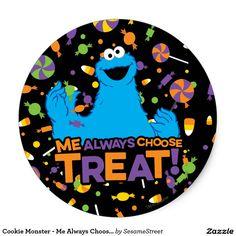 Cookie Monster - Me Always Choose Treat #sticker