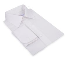 Luxire dress shirt constructed in Ivory White Broadcloth 120/2: http://custom.luxire.com/products/white-broadcloth-120-2  Consists of Semi-spread collar and french cuffs.