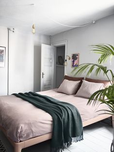 Pastel coloured bedroom