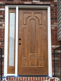 As house painting contractors in the Connecticut area, we are called on to refinish fiberglass doors.. come see the before pictures