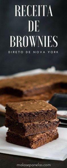 Receita de Brownies - direto de Nova York   Malas e Panelas