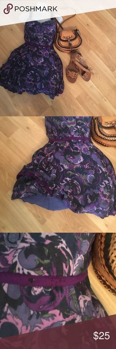 Purple free people dress Purple free people dress. In great condition missing a few sparkles not noticeable size 8 Free People Dresses Midi