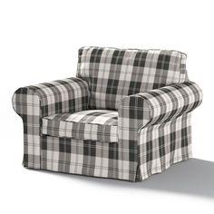Pokrowiec na fotel Ektorp w kolekcji Edinburgh, tkanina: 115-74