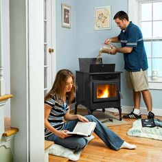 Tip: Hearing a pellet stove in action on the dealer's floor is just as important as seeing one. If the whir of the fans or the hum of the auger motor bothers you, find another model. | Photo: Anthony Tieuli
