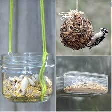 Bilderesultat for bird feeder from recycled materials