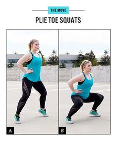 Butt Workout Move No. 3: Plié Toe Squats