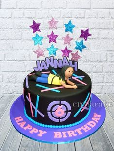 Laser tag themed cake I went in with an idea in my head and