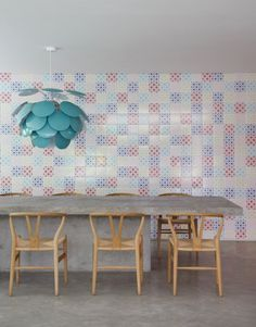 Lámpara de color Azul agua marina, ¿a qué es bonita?DM House by Studio Guilherme Torres