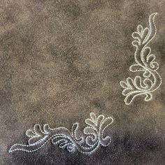 Embroidery   #deerskin #skirt