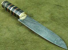 Online veilinghuis Catawiki: 30 cm Xl Damascus Steel Kitchen Knife