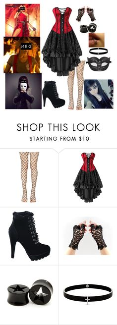 """""""Meg - Kane Photoshoot"""" by shooting-starchild ❤ liked on Polyvore featuring Leg Avenue and Lynn Ban"""