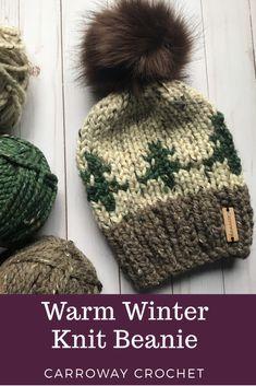 Knit Hats, Knit Beanie Hat, Crochet Beanie, Beanies, Christmas Tree Hat, Fur Tree, Faux Fur Pom Pom, City Style, Crochet Gifts