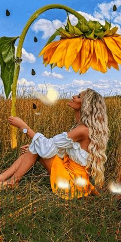 Beautiful Love Pictures, Love You Images, Beautiful Dream, Surrealism Photography, Nature Photography, Sunflower Pictures, Animated Love Images, Amazing Gifs, Beautiful Blonde Girl