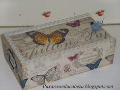 caja mariposa de otoño