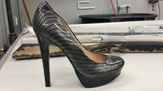 Carbon Fiber dipped Heel by 360 Customs!!  Check out www.gowith360.com for more information on hydrodipping, pictures, and patterns!