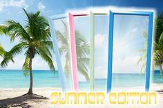 Zrkadlo SUMMER EDITION BABY BLUE. Zrkadlá Reaction eshop. Baby Blue, Blues, Frame, Summer, Decor, Picture Frame, Summer Time, Decoration, Decorating