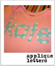 SewSara: How I make my applique letters