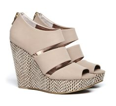 Open toe wedge with back zipper - A new look for your wardrobe.