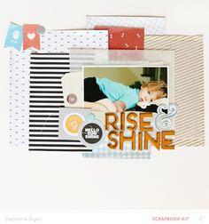 stephanie makes: Studio Calico // Carolina Moon Reveal - Main Kit Project Life Scrapbook, Baby Scrapbook, Scrapbook Pages, Moon Projects, Dog Cards, Studio Calico, Card Kit, Journal Cards, Scrapbooking Layouts