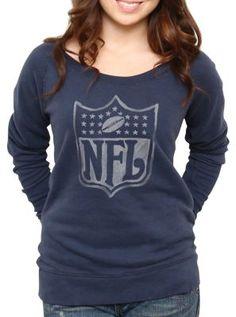 NFL Logo Vintage Off the Shoulder Fleece