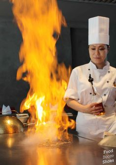 Gotta love it! Food, booze and shoes: Fire and water at Wharf Teppanyaki Flambe Desserts, Sydney Food, Teppanyaki, Sushi, Fire, Water, Shoes, Gripe Water, Zapatos
