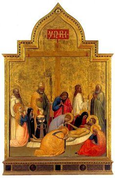 Giottino (Giotto di Maestro Stefano)  - Pietà di San Remigio  - c. 1350 - Galleria degli Uffizi, Firenze