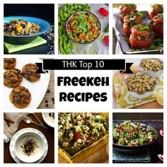 Top 10 Freekeh Recipes + A Giveaway! from Two Healthy Kitchens - The 10 best freekeh recipes ... from cookies and scones to pilafs, salads and breakfast bowls!