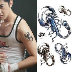 Temporary Scorpion Tattoo Transfer Body Art Sticker Waterproof