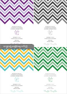 Free Chevron Wedding Printables. Perfect for not only weddings, but baby showers, parties whatever...