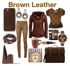 """Brown Leather"" by mandimwpink ❤ liked on Polyvore featuring Beau Souci, Dr. Martens, Nine West, J.W. Hulme Co., Olivia Burton, Suzy Levian, Alexander McQueen, Bobbi Brown Cosmetics, Primitives By Kathy and brownleather"